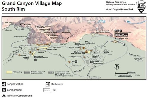 Carte-de-Grand-Canyon-Village